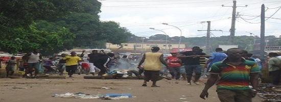 0207 58238 guinee conakry les manifestations contre les delestages se poursuivent et s intensifient dans le pays m