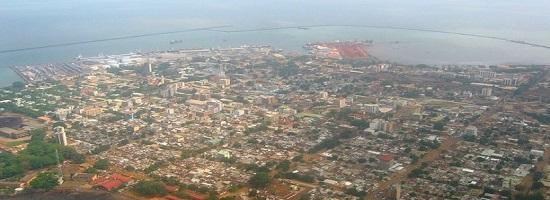 Conakry vue aerienne guinee