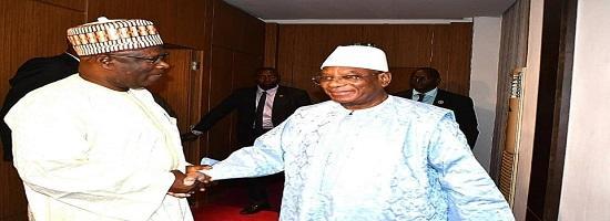 Ibrahim boubacar keita ibk president rencontre audience kabinet conde ambassadeur guinee mali